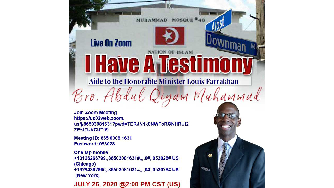 I Have A Testimony: Interview w/ Willie Muhammad