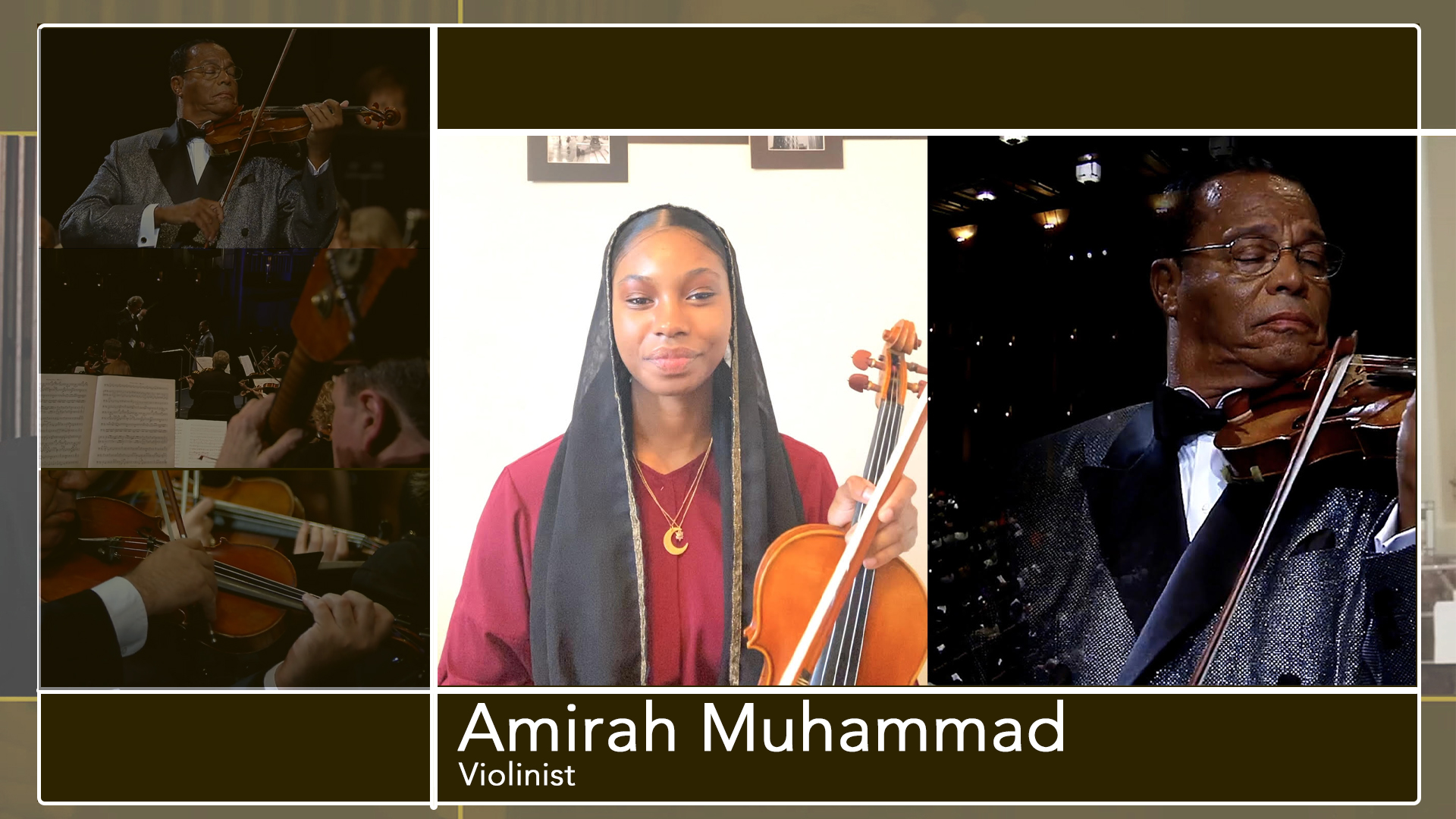 Amirah Muhammad speaks on the Beethoven Violin Concerto performed by Minister Louis Farrakhan