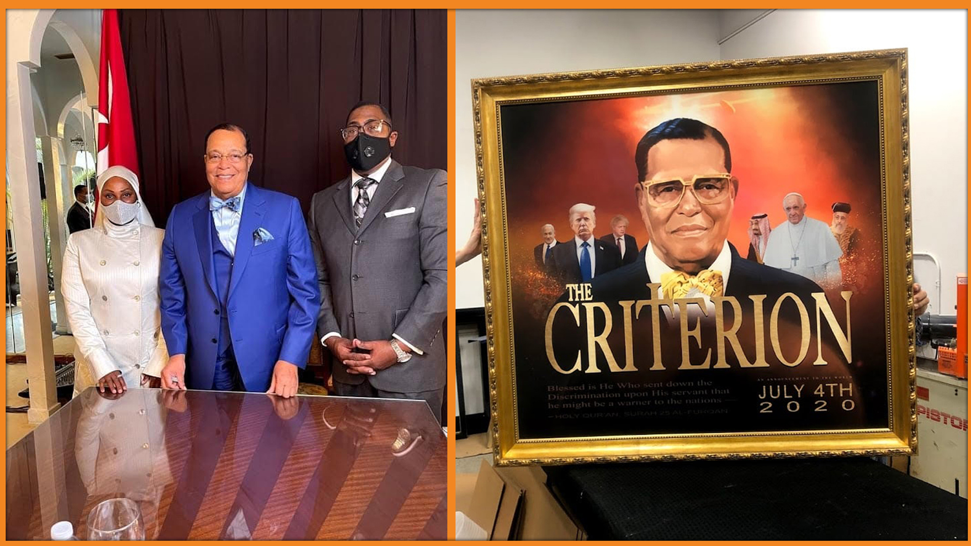 Carey Muhammad speaks on painting for Minister Louis Farrakhan