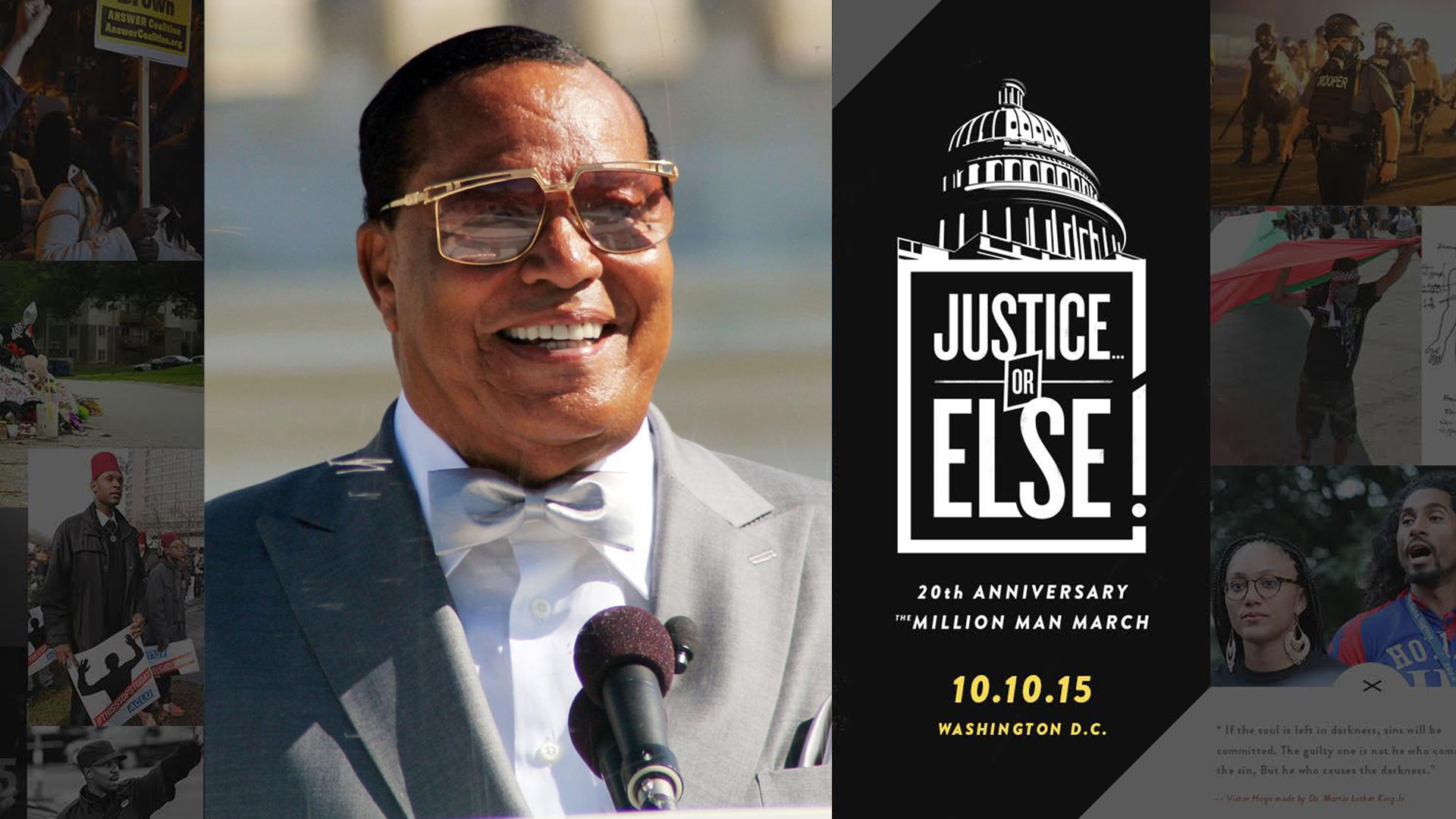 Justice Or Else! – Million Man March 20Th Anniversary