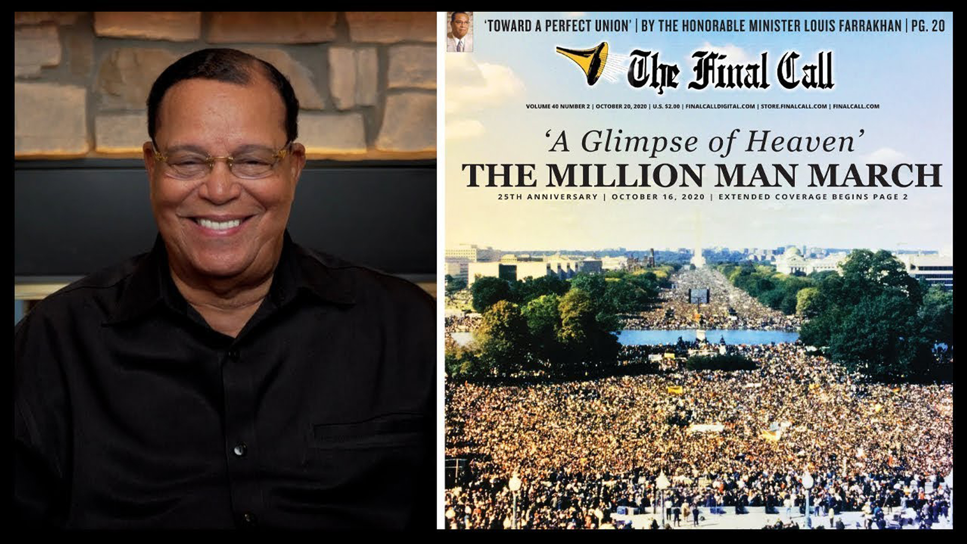 Minister Farrakhan reflects on why The Million Man March is a template