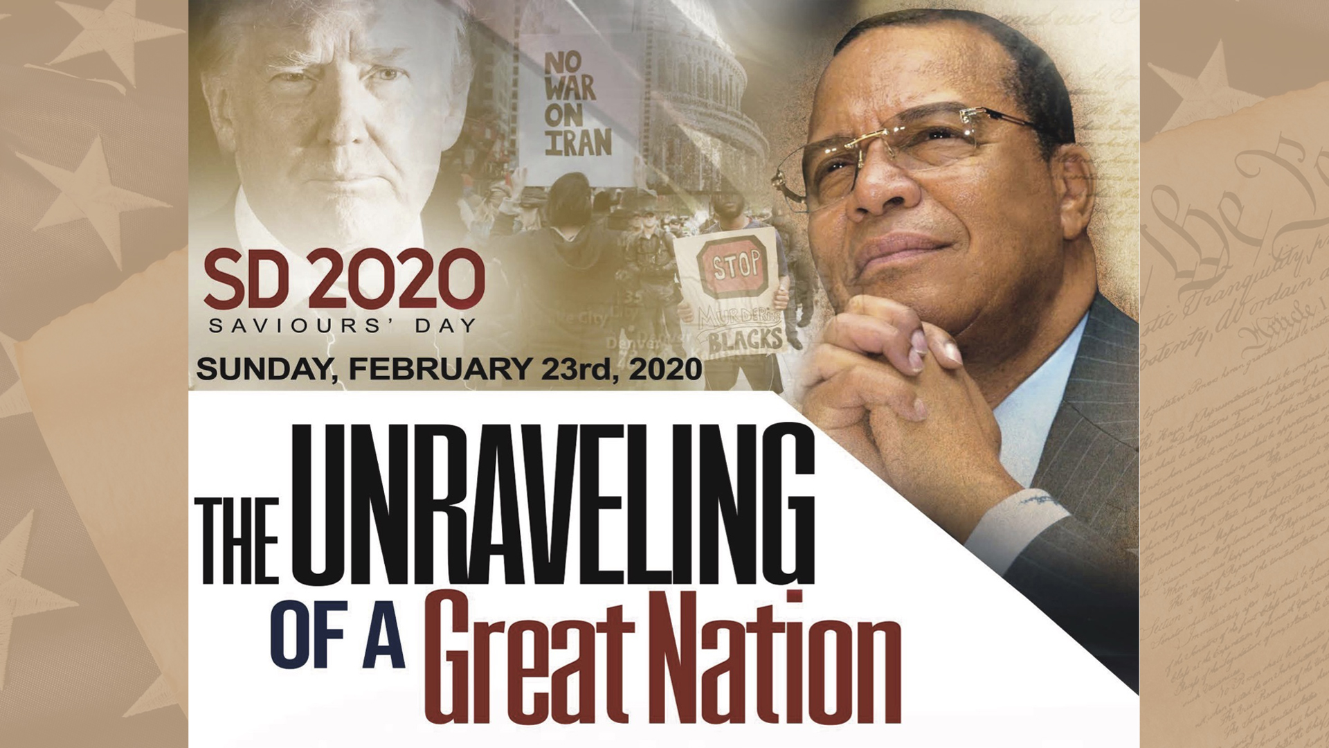 Saviours Day 2020 Keynote Address: The Unraveling of A Great Nation