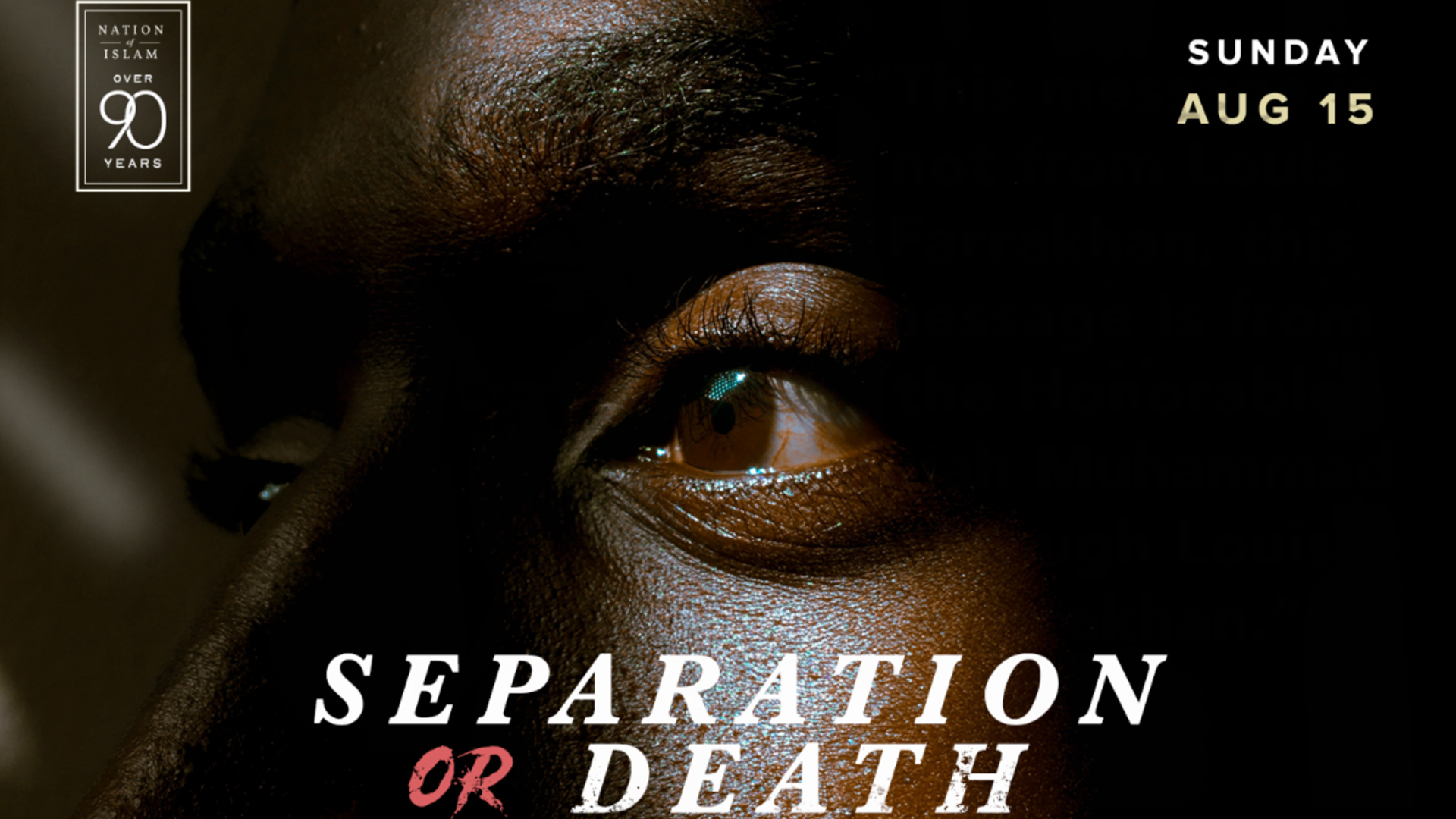 Separation Or Death – Student Minister Ishmael Muhammad