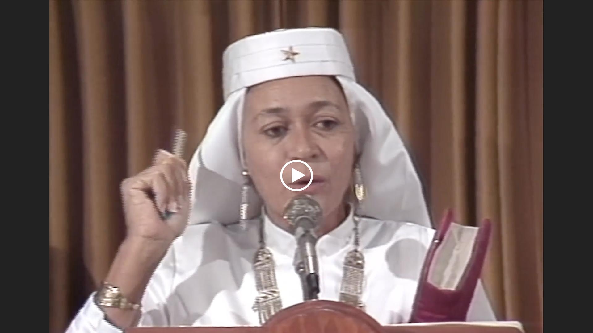 Mother Tynnetta Muhammad Speaks on the Respect for Womanhood