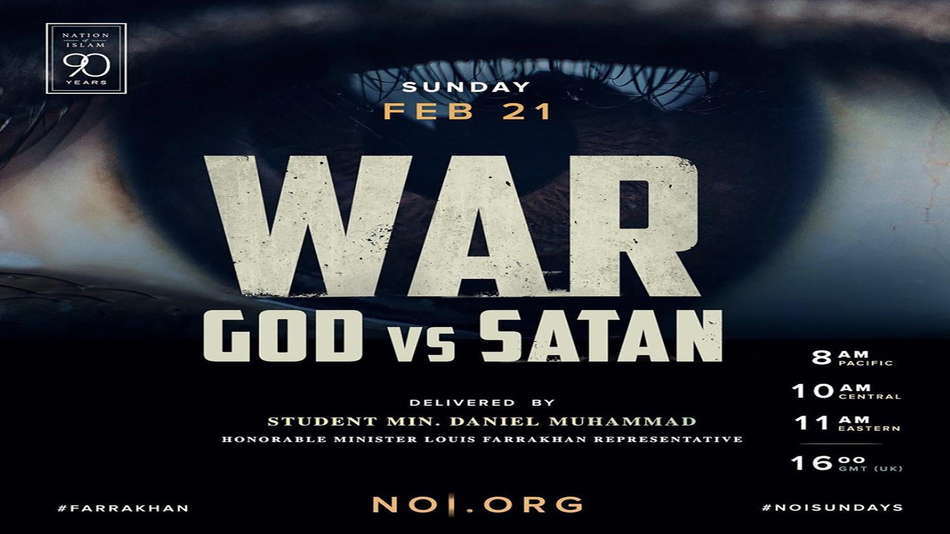 War: God vs. Satan